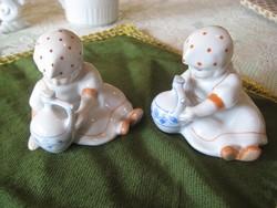 Zsolnay  , korsós Annuska  figurák  hibátlanok