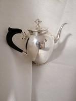 Ezüst fa fülű  teás-/kávéskanna.Art Deco. Ritka.