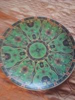 Zöld csodás nagy kerámia tányér. 27 cm
