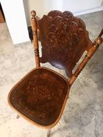 Kitűnő állapotban fennmaradt nagyon egyedi megjelenésű Thonet szék!