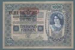 1000 Korona 1902 EF  Deutschösterreich  ECHT Magyar hátlap