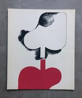 Keserü Ilona szitanyomat 1976