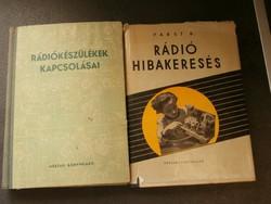 Rádiós könyvek 1957 2 db