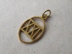 KK772 Aranyozott ezüst medál XXI 925