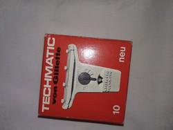 Vintage Techmatic Gillette borotválkozó penge, zsilett borotva alkatrész, safety razor