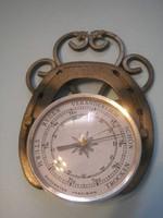 N 6 Lópatkóban precíziós barométer Dísz kovácsoltvasban ritkaság 19 x 13 cm