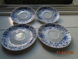4 db Meisseni gazdag kék hagyma mintás csésze alátét 14,5 cm