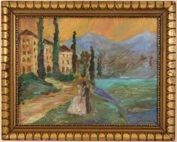 Gulácsy Lajos (1882-1932) Keretezett Festmény