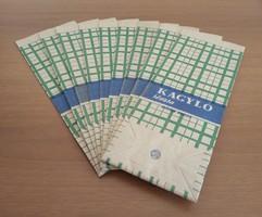 9 db régi, retro papírtasak (Békéscsabai Konzervgyár, kagyló tészta) egyben eladó