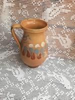 25 cm magas kerámia mázas szilke, köcsög, paraszti dekoráció, Gyűjtői darab