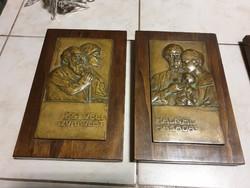 Bronz faliképek