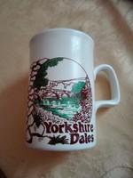 Angol Ashdale csésze, Yorkshire dekorral, 3 dl