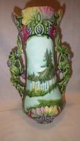 Antik majolika váza