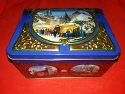 Szinte antik csokoládés  lemez doboz gyűjtőknek túlhúzott a képek szerinti állapotban