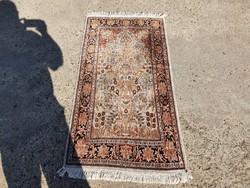 Kashmir kézi csomózású selyem szőnyeg 137x75 cm