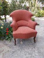 Bécsi barokk fotel friss kárpitozással, szuper kényelmes!