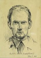 Tóth T. jelzéssel : Férfi portré 1945