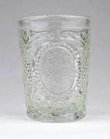 0Z922 Antik irredenta címeres üveg pohár! Angyalos koronás magyar címerrel