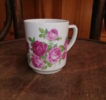 Gyönyörű Drasche rózsás bögre,nosztalgia, Gyűjtői szépség