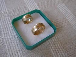 Sima arany karikagyűrű pár