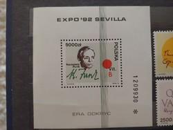 Polska Expo 92 Sevilla bélyeg