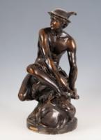 Hermész gipsz szobor ( Jean-Baptiste Pigalle után)
