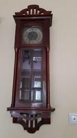 Antik szecessziós fali óra súlyos szerkezettel