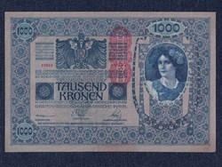 Ausztria HAJTATLAN 1000 Korona bankjegy 1902 / id 20943/