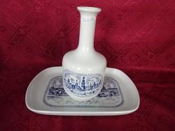 Alföldi porcelán pálinkás palack és tál Sopron felirattal palack mag 17.5 cm tál 16 x 24 cm