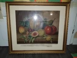 1864-es olajnyomat, kiváló állapotban, szép keretben, üveg törött