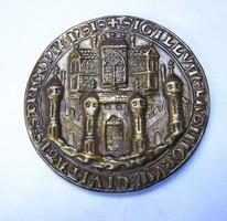 III. Béla esztergomi pecsétnyomójának másolata,réz lemezveret.