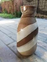 Retro jelzett kerámia váza 24 cm