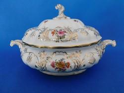 Herendi 12sz  Vieux bouquet de Saxe  barokk nagyméretű levesestál VBSO