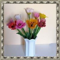 1 szál gyöngyből készített tulipán több színben GYV25