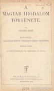 Pintér Jenő: A magyar irodalom története (1929-es) 900 Ft