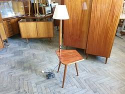 Retro régi mid century lámpa állólámpa és kis asztal
