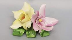 Herendi porcelán színes virágok