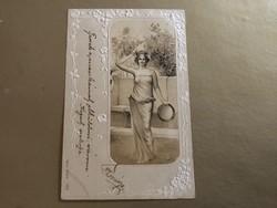 Csodàs szecessziós dombornyomott képeslap 1903 No: 1303