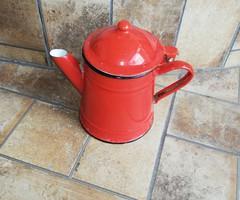Piros  zománcos kanna,kávéskanna , kiöntő Zománcozott  108