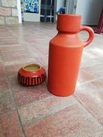 Retro narancs színű kerámiák