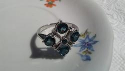 London topáz 925 ezüst gyűrű