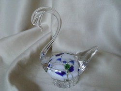Muránói  üveg Hattyú