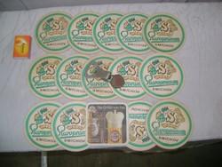 Retro söralátét tizenöt darab és egy sörnyitó + kupak