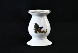 Hollóházi Royal Martin porcelán gyertyatartó - fácános - vadász jelenetes