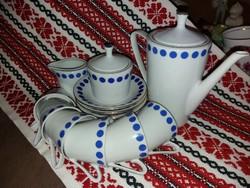 Retró kék pettyes régi Alföldi kávés készlet