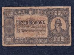 Kisméretű Korona államjegy 1000 Korona bankjegy 1923 / id 21506/