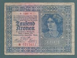 1000 Korona 1922 Osztrák - Magyar Bank