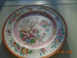 1850 MINTON kézzel festett tál INDIAN TREE mintával porcelánba nyomott jelzéssel,kézi számozással