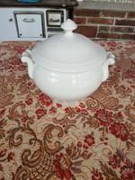 Levesestál, tál, Gyönyörű fehér porcelán, Gyűjtői ritkább  darab