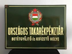 Országos Takarékpénztár zománctábla ( zománc tábla)